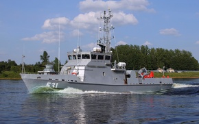"""Picture ship, combat, on the go, Minesweeper, """"Tau"""", RAID"""