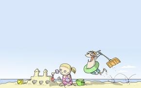 Wallpaper humor, caricature, Wulffmorgenthaler, children