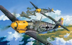 Picture Bf -109 Е-4, Squadron Commodore, 26th fighter squadron Schlageter., Air force, JG26 Schlageter, Emil, Emil, …