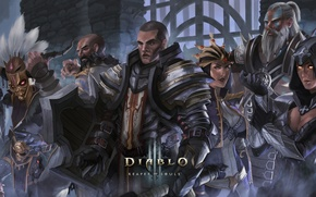Picture diablo 3, Demon Hunter, Witch Doctor, Barbarian, Wizard, Monk, Crusader