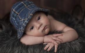 Picture children, face, child, portrait, boy, cap, baby, child, Wallpaper from lolita777