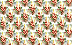 Wallpaper background, holiday, candle, texture, art, New year