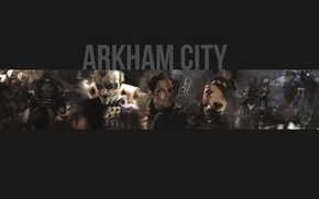 Wallpaper Batman Arkham City, two-faced, the game, Batman, Cat woman, Joker