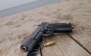 Wallpaper gun, knife, cartridge