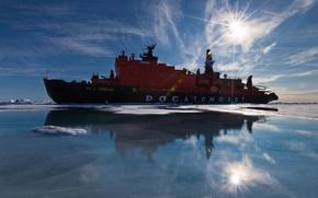 Picture sea, ship, beautiful