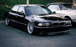 Picture BMW, stance, 7 series, E38