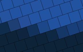 Picture blue, blue, squares, design, color, material