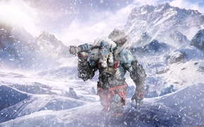 Picture winter, snow, mountains, game, mountains, snow, Troll, Troll, gmes