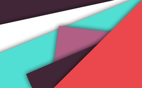 Picture white, lilac, blue, geometry, material