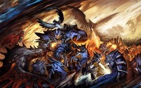 Picture dragon, figure, fantasy, art, battle, fantasy, undead, Griffin, art, undead, dragon, battle, fanart, fanart, My …