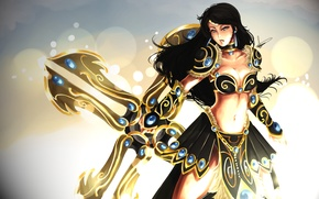 Picture weapons, the game, armor, League of Legends, sivir? girl