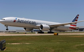 Picture summer, the sky, engine, strip, wing, airport, Boeing, summer, the plane, weather, landing, sky, aircraft, ...