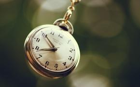Wallpaper bokeh, macro, dial, arrows, watch, chain