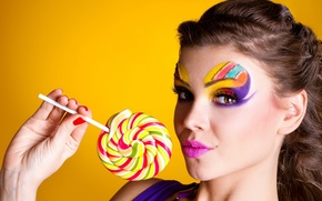 Picture colors, candy, makeup