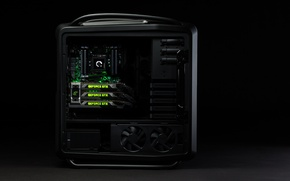 Picture computer, black, Nvidia, stylish, GeForce GTX Titan, powerful