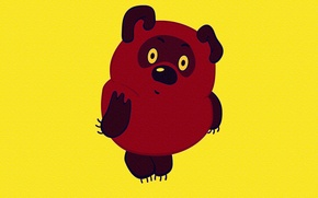 Wallpaper CHARACTER, BACKGROUND, CARTOON, WINNIE THE POOH, YELLOW