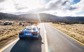 Picture road, the sun, light, Audi, car, V10, More, neebo