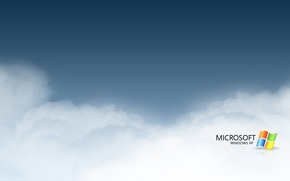 Wallpaper windows, computers, clouds, microsoft