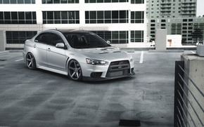 Picture car, tuning, mitsubishi, tuning, lancer, vossen, EVO X