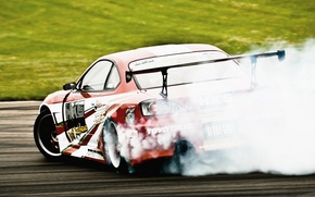 Picture sport, tuning, smoke, skid, cars, nissan, drift, cars, Nissan, silvia, auto wallpapers, car Wallpaper, auto ...