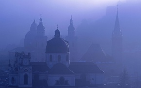 Wallpaper fog, Austria, Salzburg