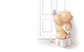 Picture letter, mood, art, bear, package, children's, mail, Forever Friends Deckchair bear