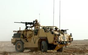 Picture gun, soldier, desert, weapon, man, sand, pearls, MAG, .50, uniform, machine gun, seifuku, suna, Jackal, …