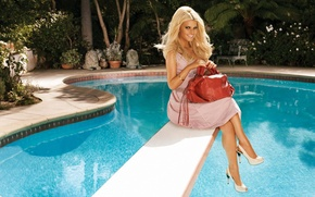 Picture water, pool, Jessica Simpson
