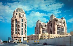 Picture road, building, the hotel, Qatar, Doha, Doha, Qatar, The St Regis Doha