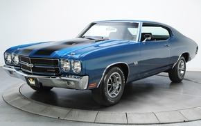 Picture blue, retro, Chevrolet, muscle car, chevrolet, muscle car, 1970, chevelle, chevy, Sevil
