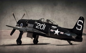Picture style, background, the plane, F8-F Bearcat