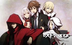 Picture hood, school uniform, red coat, guilty crown, pink hair, inori yuzuriha, scrooge, carol, guilty crown, …