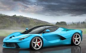 Picture Ferrari, Ferrari, Supercar, LaFerrari, The laferrari, Tiffany Blue