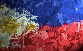 Picture paint, flag, flag, Republic Of The Philippines, Republic of the Philippines, Republic of the Philippines