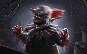 Picture horror, Brawl, clown