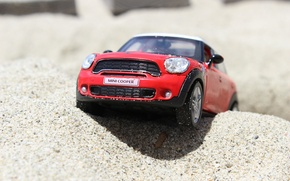 Wallpaper beach, toy, mini, car, mini Cooper, model