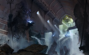 Picture water, statues, Palace, Prince of Persia: The Forgotten Sands, Prince Of Persia: The Forgotten Sands
