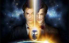 Picture space, stars, fiction, the series, Doctor Who, Doctor Who, the TARDIS, police box, David Tennant, …