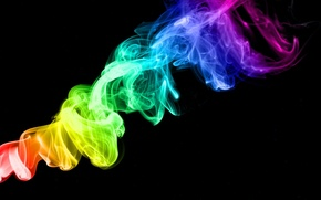 Picture Smoke, Rainbow, Color, Rainbow color