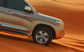 Picture sand, machine, desert, SUV, toyota, sand, desrt
