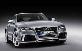Picture Audi, Audi, Tuning, Silver, Sedan, Lights, Room, The front, RS 7