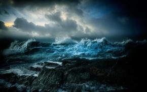 Picture sea, wave, landscape, rocks