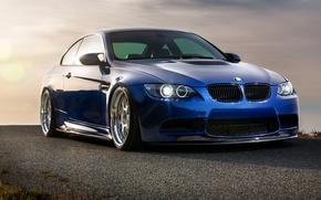 Picture blue, BMW, BMW, blue, E92
