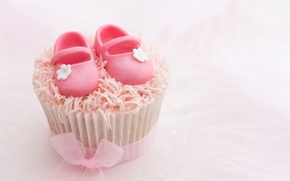 Picture bow, cake, cream, cupcake, cream, sugar Slippers, sugar Slippers