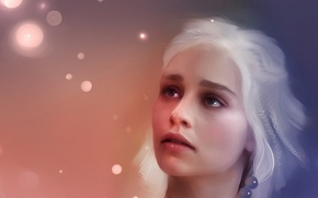 Wallpaper Targaryen, painting, game of thrones, game of thrones, art, figure, beautiful, girl, beautiful, khaleesi, Targaryen, ...