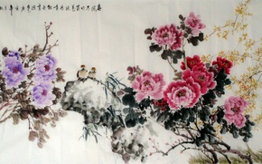 Picture painting, Chinese painting, Chinese ink painting, Chinese traditional ink painting
