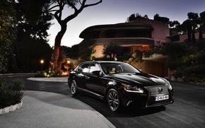 Picture The evening, Auto, Black, Lexus, House, Machine, Lexus, Sedan, LS-EU