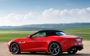Picture machine, the sky, Jaguar, Jaguar, F-Type, V8 S