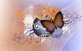 Picture abstraction, pattern, butterfly, wings