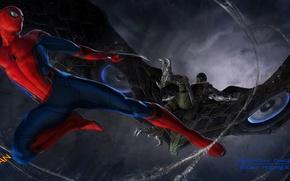 Wallpaper Marvel, Spider-man, Vulture, concept-art, Spider-Man, Vulture, Spider-man homecoming